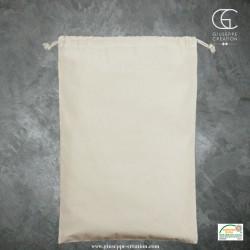 Pochon avec cordons 30x45 cm écru 140g