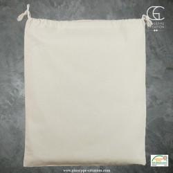 Pochon avec cordons 40x50 cm écru 140g